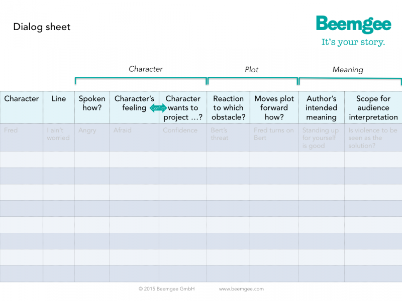 Beemgee_Dialog_Sheet