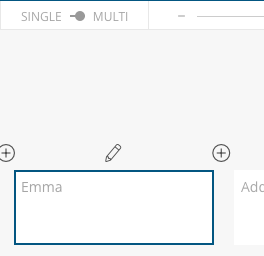 Access Character-Builder via pencil icon or single view.