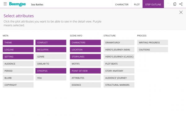Step Outline Select Details Overview