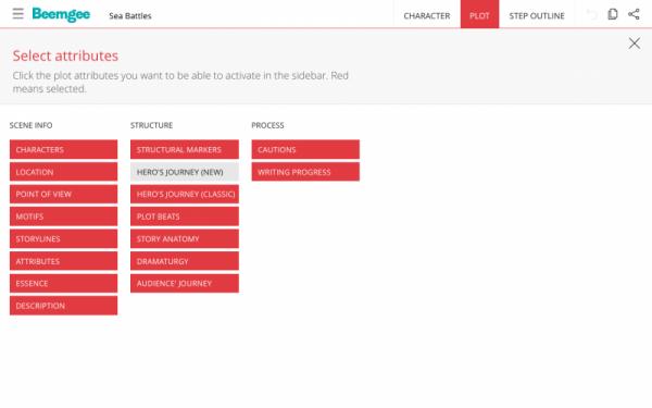 plot features list view